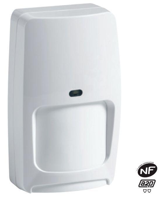 Détecteur de mouvement à double technologie Honeywell (réf. DTPI8M) certifié NFa2p avec une immunité aux petits animaux
