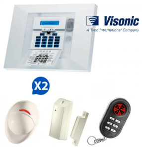 Kit d'alarme sans fil Visonic PowerMax Pro avec écran NFA2P 2 certifié