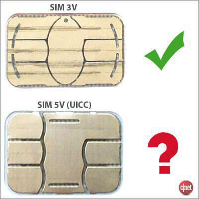 Différence entre une carte SIM 3V et 5V